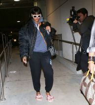 Rihanna at LAX Airport in Los Angeles on April 19, 2017 pictures