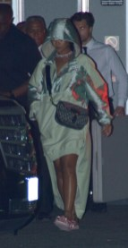 Rihanna leaves Fenty PopUp Shop in Los Angeles on April 18, 2017 pictures