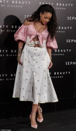 Rihanna launches Fenty Beauty in Madrid