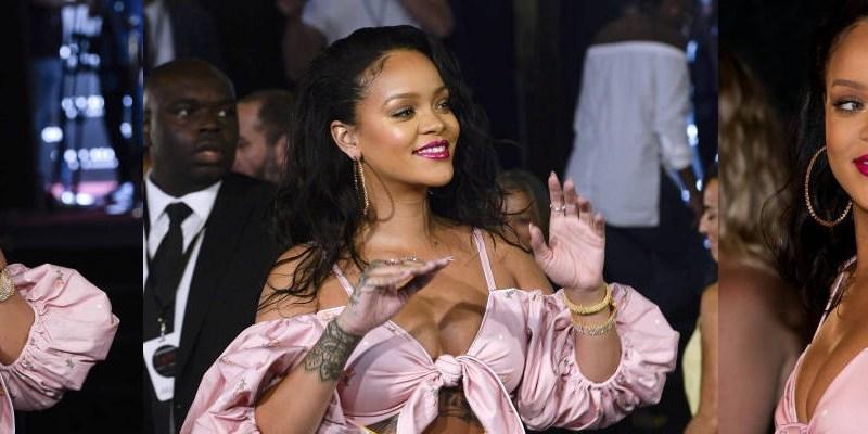 Rihanna attends Fenty Beauty launch in Madrid