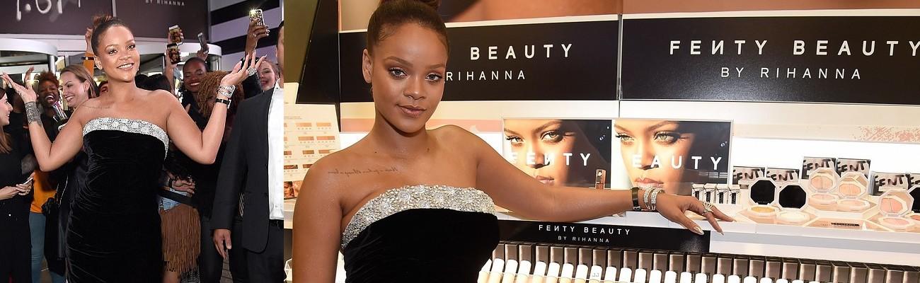 Rihanna celebrates the Fenty Beauty launch at a Sephora in New York