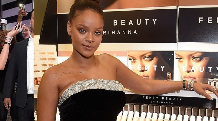 Rihanna celebrates the Fenty Beauty launch at a Sephora in New York