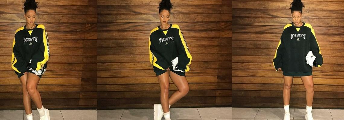Rihanna models Fenty Puma on Instagram