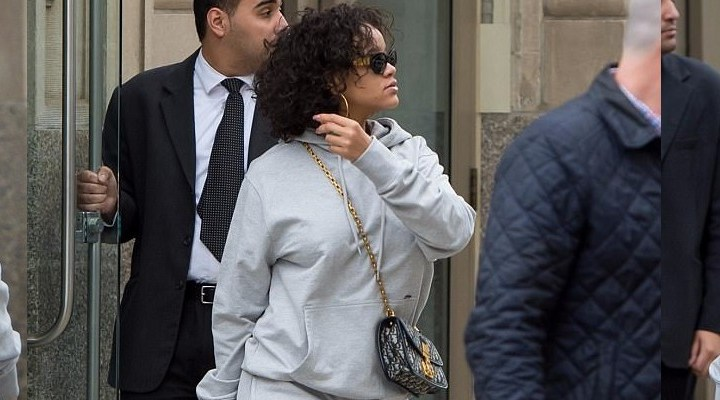 Rihanna out in New York today