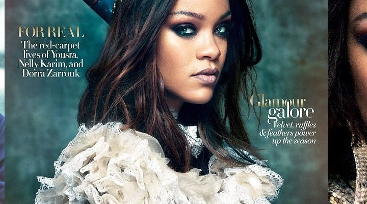 Rihanna on the cover of Vogue Arabia