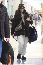 Rihanna spotted at JFK Airport on November 27, 2017