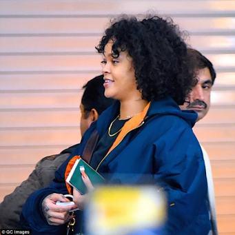 Rihanna spotted at JFK Airport on Sunday November 5, 2017