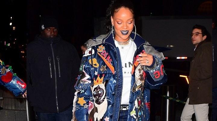 Rihanna attends Chris Rock's Total Blackout Tour