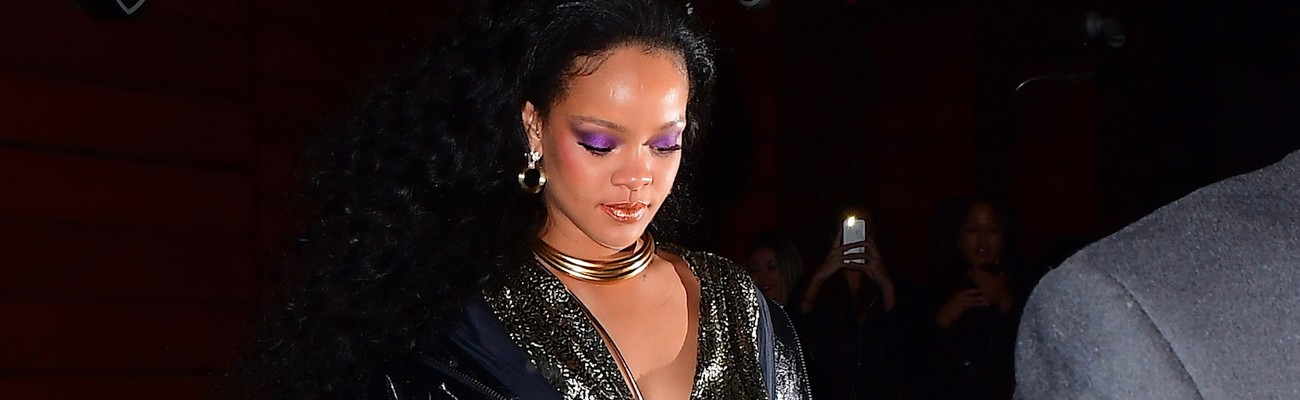 Rihanna attends Grammy Awards after party