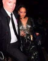 Rihanna attends Grammy Awards after party January 28, 2018