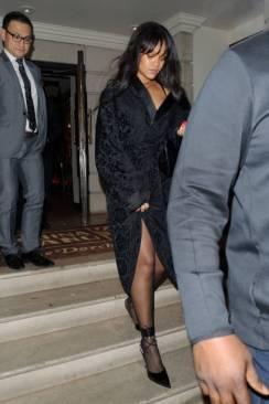 Rihanna at China Tang restaurant in London January 20, 2018