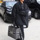 Rihanna arrives at JFK Airport on May 4, 2018 Off-White