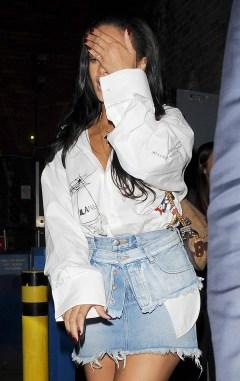 Rihanna enjoys a night out in London May 22, 2018 Balenciaga