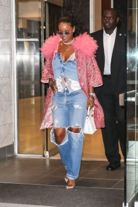 Rihanna out in New York City on May 5, 2018 Savage x Fenty