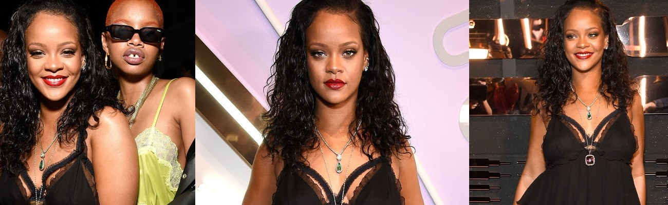 Rihanna attends Savage x Fenty launch in New York