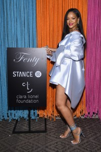 Rihanna at Clara Lionel Foundation benefit in New York on June 6, 2018 Stance