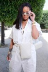 Rihanna attends Louis Vuitton fashion show in Paris on June 21, 2018 Pose
