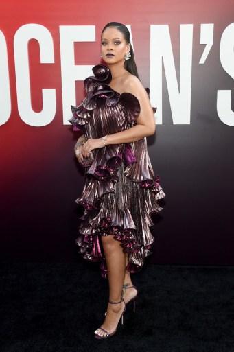 Rihanna attends Ocean's 8 world premiere on June 5, 2018 New York Red carpet