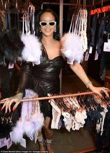 Rihanna visits Savage x Fenty pop up shop in London on June 15, 2018 UK