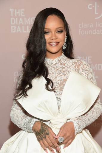 Rihanna attends 2018 Diamond Ball wearing a big smile