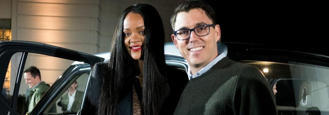 Rihanna attends Rivian event in Los Angeles