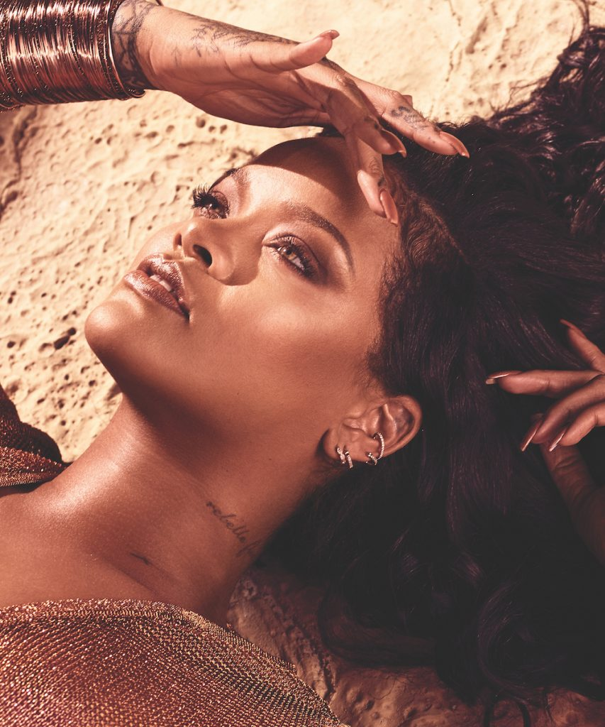 Rihanna promo for Fenty Beauty bronzer