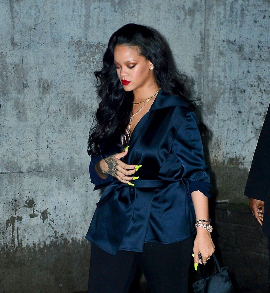Rihanna dines out in New York on April 12, 2019