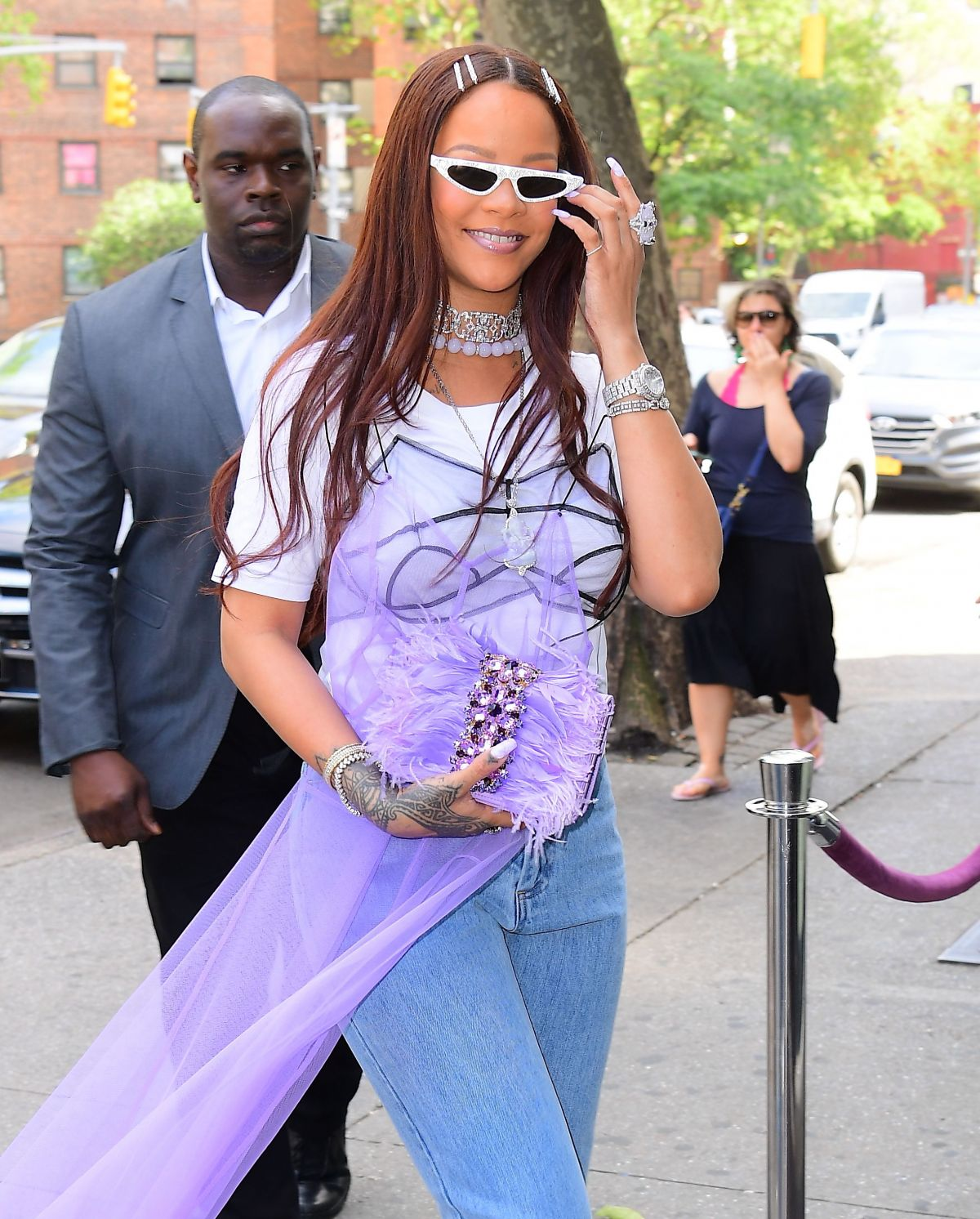 Rihanna out in New York on June 9, 2019