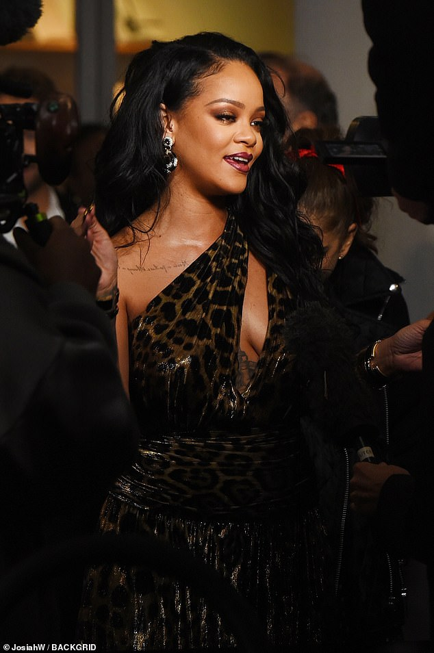 Rihanna at book launch at Guggenheim Museum in New York City on October 11, 2019