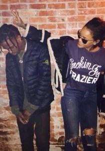Rihanna e o peguete Travis Scott
