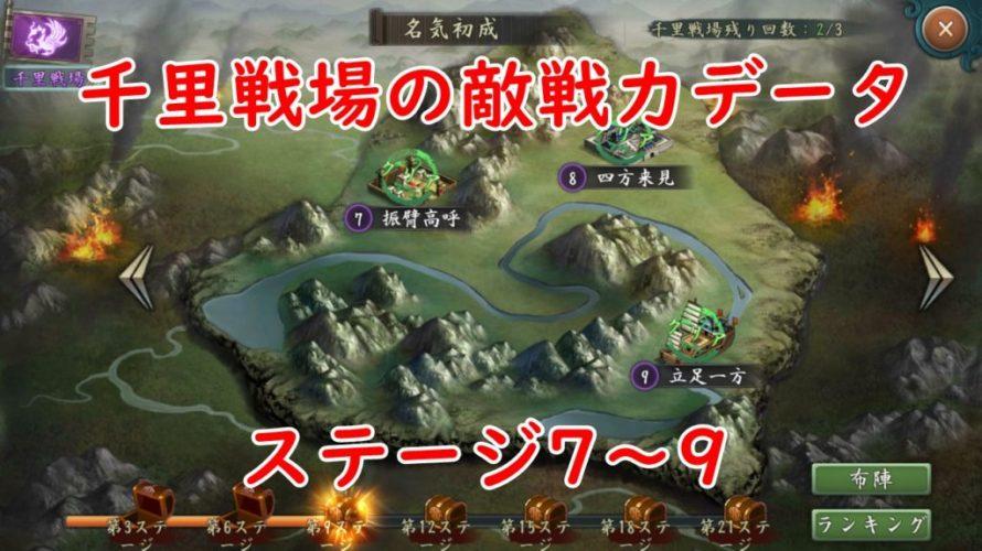 千里戦場の敵編成や戦力傾向(ステージ7~9)