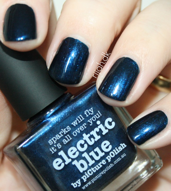 piCture pOlish electric blue