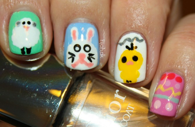 easter nails Fancy Friday - Påske
