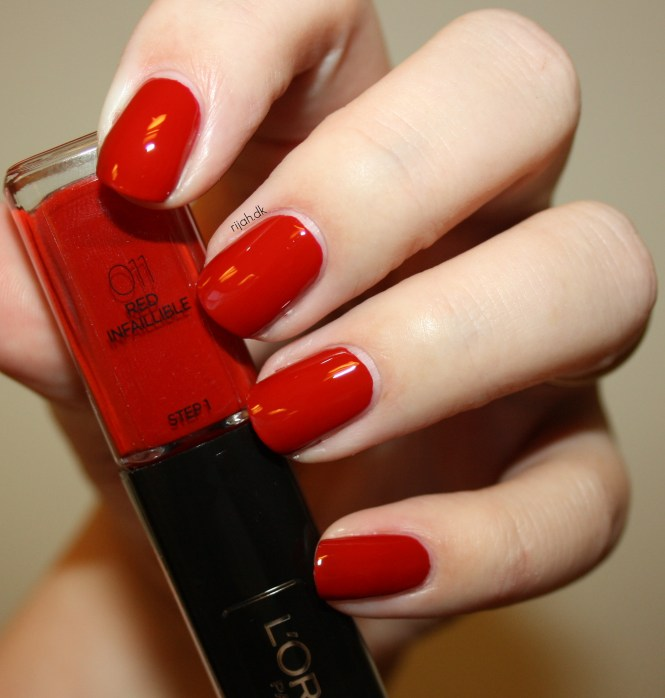 Loreal 011 Red Infaillible Loreal Infallible Nails