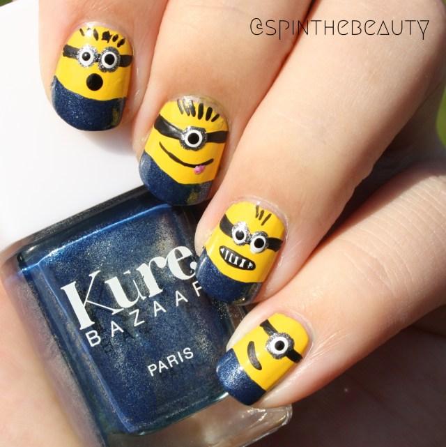 Minions nails Nail art 2015