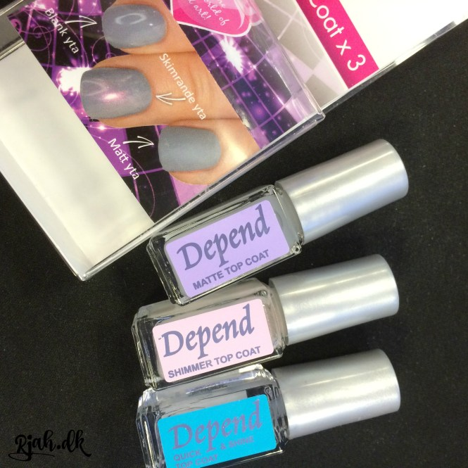 Depend Topcoat x 3 Depend Nail Art nyt