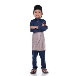 Baju Melayu Kids SPACE BLUE - Rijal & Co 01