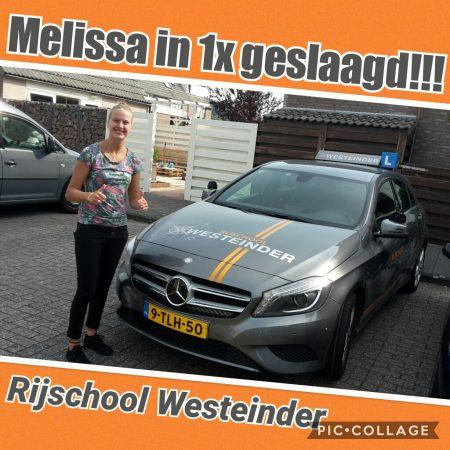 Melissa geslaagd