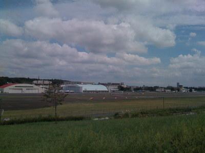 調布飛行場の全景