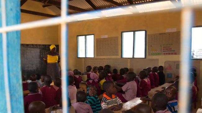 Insidan av skolbyggnaden vi sponsrade 2012