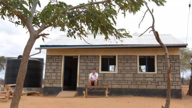 Skolbyggnaden vi sponsrade 2012