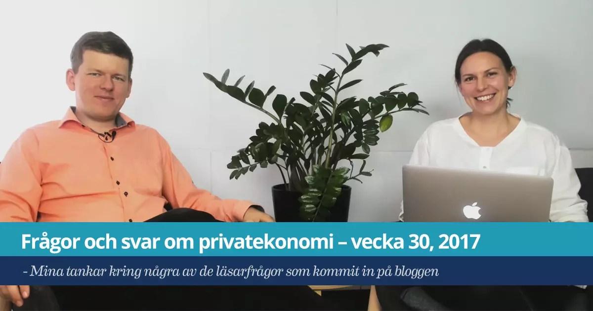 Läsarfrågor om privatekonomi