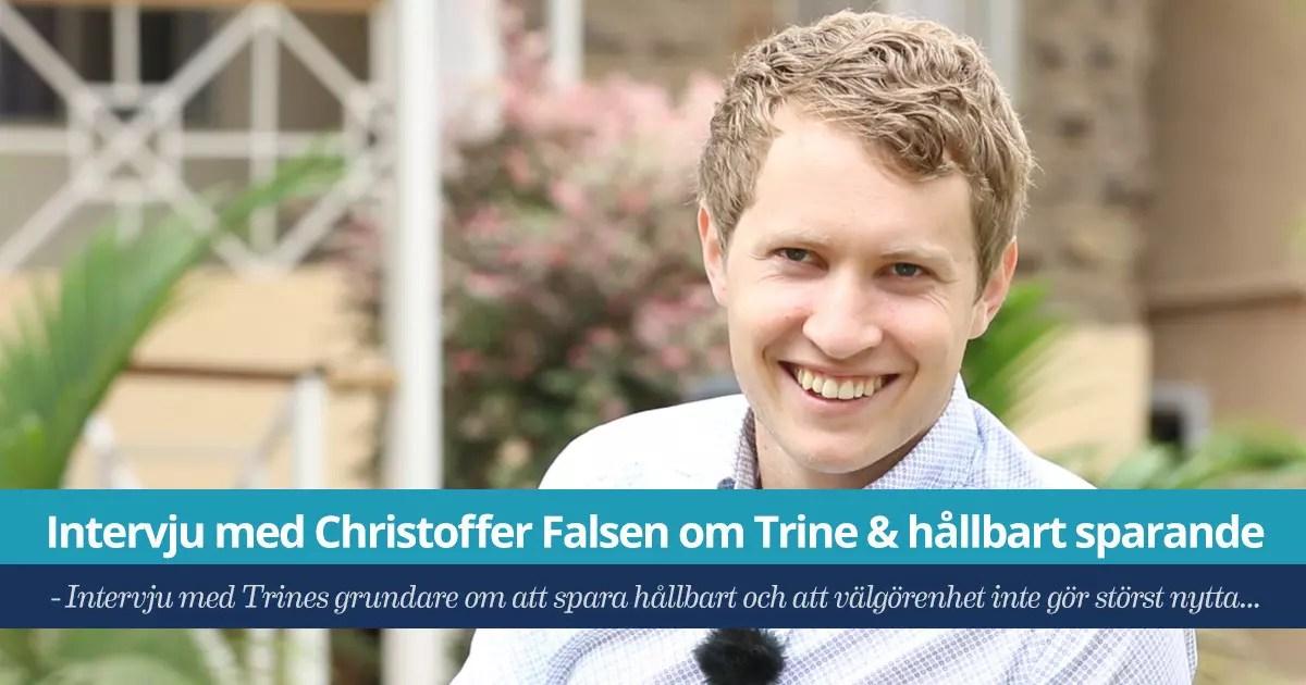 Trine Christoffer Falsén - intervju om hållbart sparande