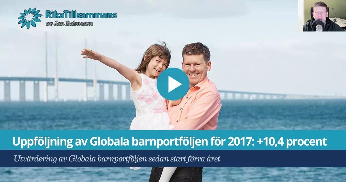 Globala barnportföljen utppföljning 2017