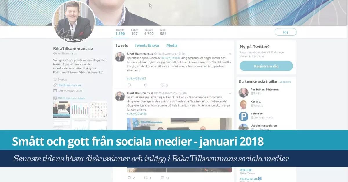 Smått och gott från sociala medier – januari 2018