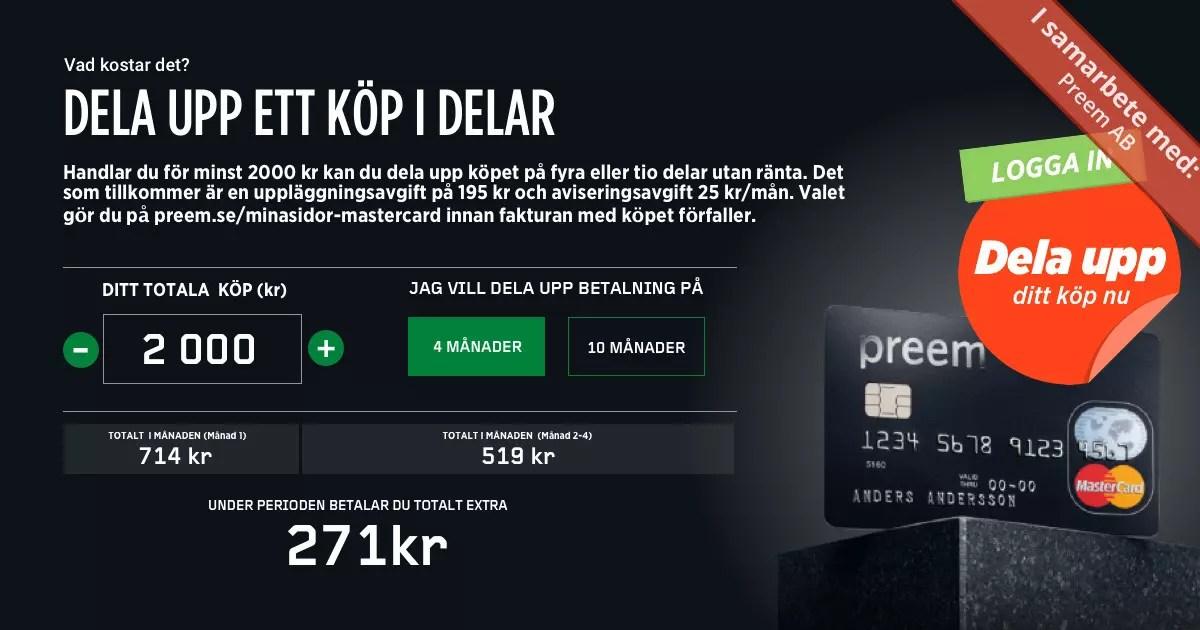 Preem Mastercard Bonus