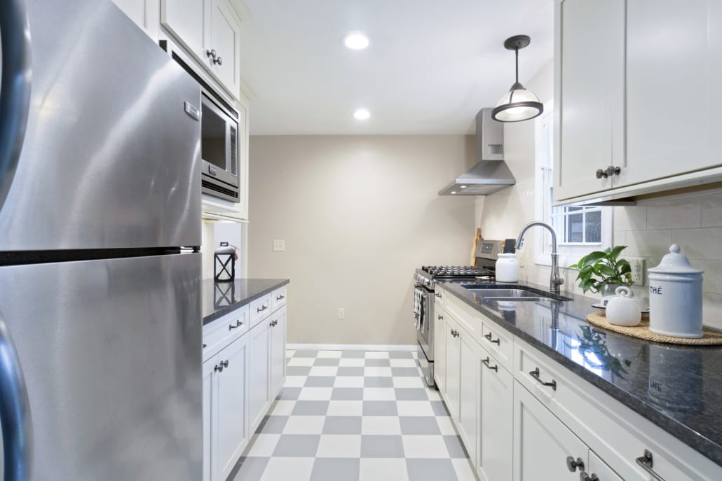 Modern White Galley Kitchen Rhode Kitchen Amp Bath Design