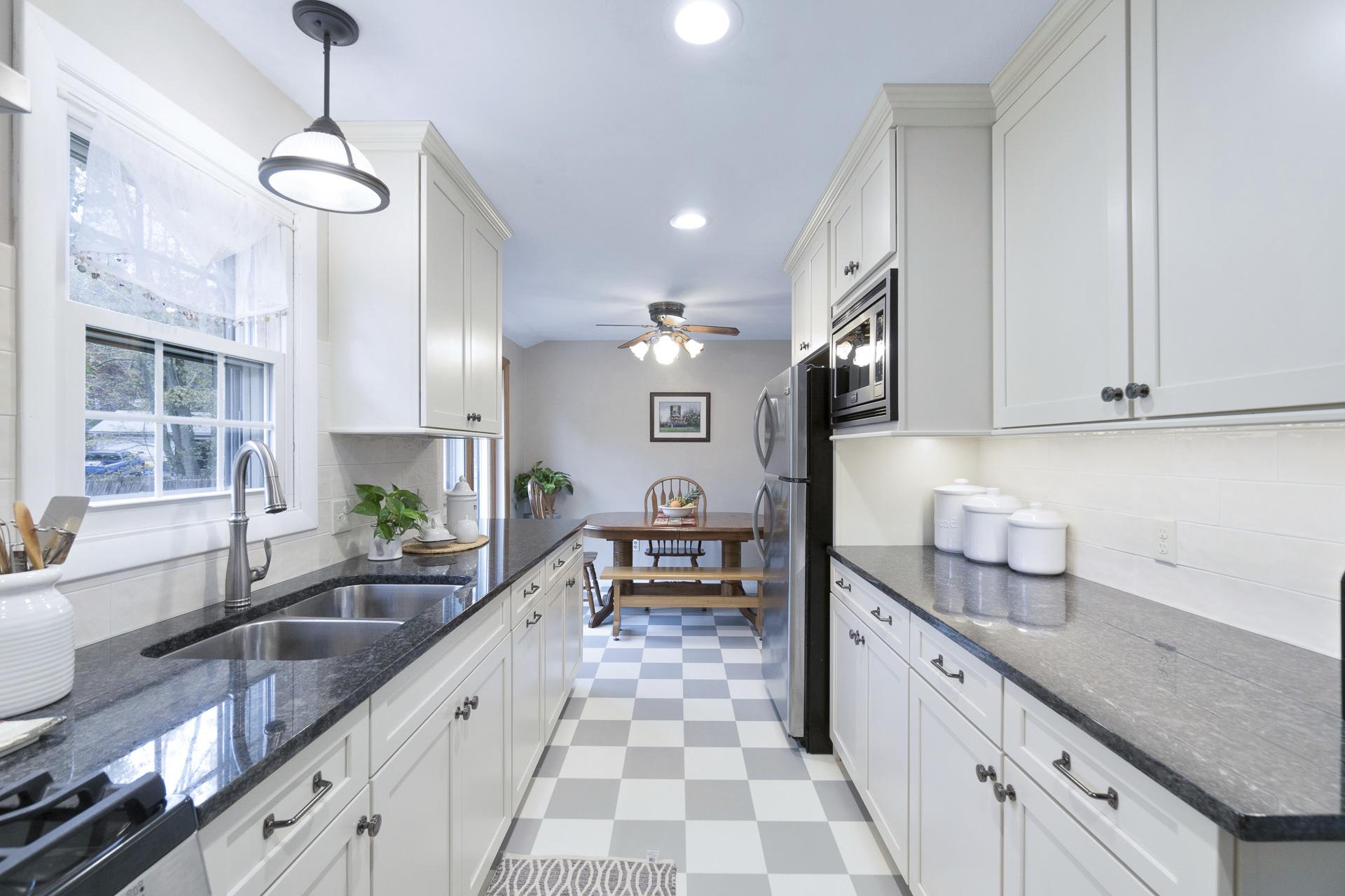 Modern White Galley Kitchen