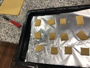 アルミホイルで焼いたクッキー