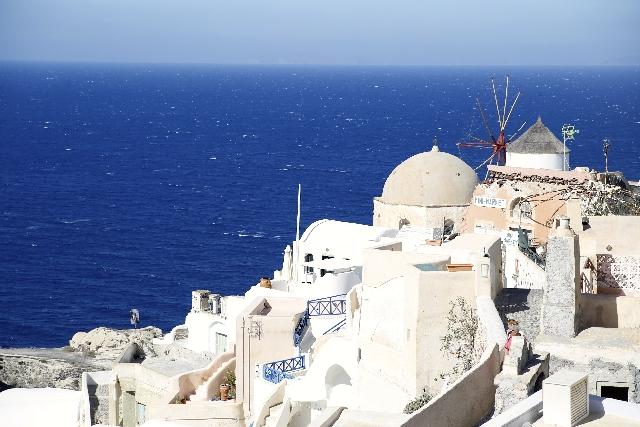 エーゲ海の見える風景